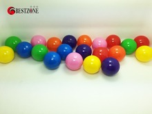 100pcs/ lot 40mm Eco-Friendly Beauty Empty PP Plastic Capsule Soft Round Balls Pool For Kids Funny Outdoor Toy