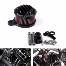 Areyourshop Hot Sale Air Cleaner Intake Filter System Kit for Harley Sportster XL883 XL1200 88-15 Black US Shipping(China)