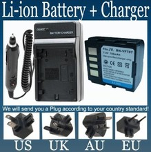 Battery + Charger for JVC BN-VF707 BN-VF707U and Everio GZ-MG27,GZ-MG37,GZ-MG57,GZ-MG67,GZ-MG70,GZ-MG77 Digital Media Camcorder(China)