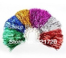 50G Cheerleader pompoms (10 pieces/lot) Cheerleading props Sports pompon supplies Color and handle can choose Free shipping
