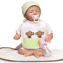 22 inches Doll Reborn For Sale Soft Toys gift Silicone Reborn Babies Girls Play House Toys Lifelike Doll Newborn Babies bonecas(China)