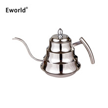 Eworld High Quality Stainless Steel Kitchen Coffee Pot Drip Kettle Tea Pot With Large 1.2L Capacity Fine Mouth Coffee Teapot(China)