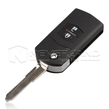2 Button Remote Key Fob Shell Case Folding Flip With Uncut Blade For Mazda 3 5 6 Free Shipping D05