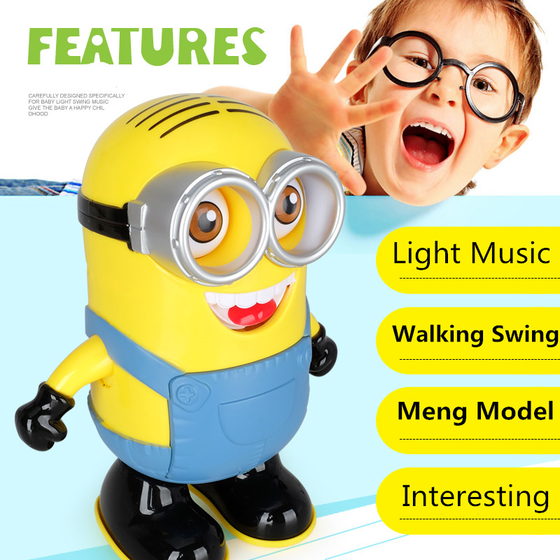Minion Toy 20cm Electric Robot, Cartoon Despicable Me 3 Toys For Children ,Minions Flashing / Music Dancing, Anime Brinquedos<br><br>Aliexpress