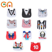 Free shipping Infant Saliva Towels Newborn baby Dress shape cotton Burp Cloths Girl Casual bibs Boy bib aprons Fit 0-3 years CN
