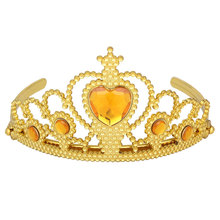 2017 Direct Selling Special Offer Water Drop Tiaras Golden Hair Hoop Rose Six Day Children's Plastic Crown Ice Anna