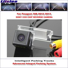 Buy Liislee Intelligent Parking Tracks Rear Camera Peugeot 308 2012 2013 Backup Reverse / NTSC RCA AUX HD SONY CCD 580 TV Lines for $43.04 in AliExpress store
