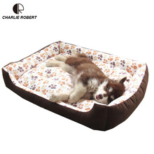 Top Quality Large Breed Dog Bed Sofa Mat House 3 Size Cat Pet Bed House for large dogs Big Blanket Cushion Basket Supplies HP789(China)