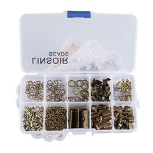 1Box 4 Colors Crimp End Clasps Lobster Clasps Jump Rings Extender Chains Ending Droplets for Necklace Jewelry Making Materials(China)