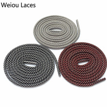 (30pairs/Lot)Weiou Round Type 3M Reflective Shoelaces 3 Colors Mixed Magic Shoe Laces Glowing Shoelaces Checkered Shoestrings