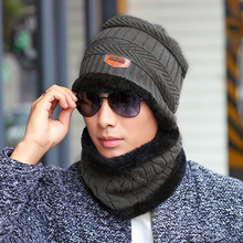 Scraf Hat Set Unisex Knit Cap Neck Warmer Winter Fleece Hats  Solid Color Apparel Accessories Hot Sale  DM#6