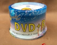 Wholesale Spindle 50 Discs Bananas Printable Grade A 4.7 GB 16x Blank DVD+R Disc