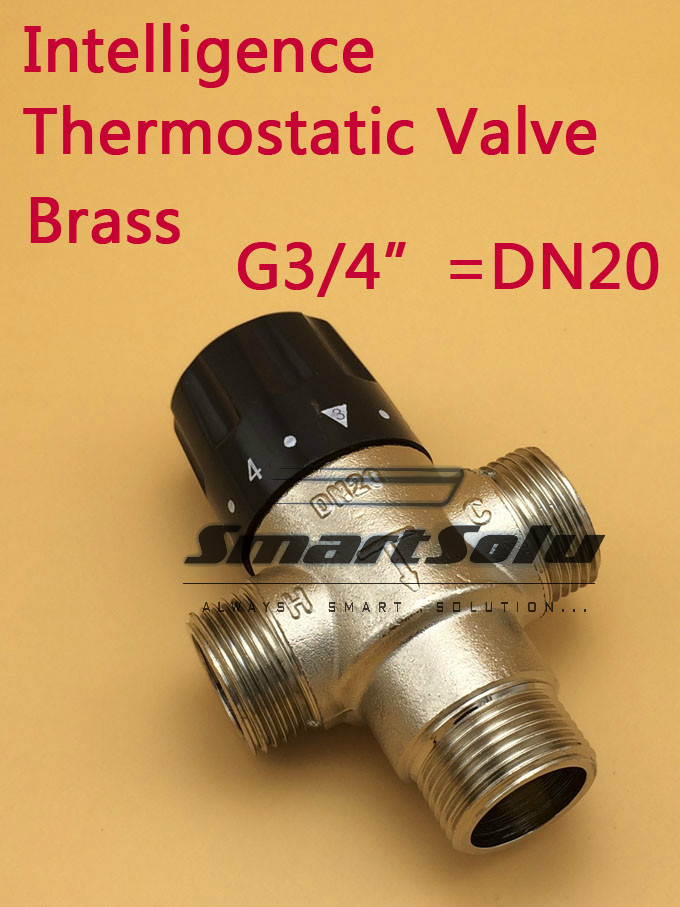 Free Shipping Brass 3/4 DN20 Solar Heater Thermostatic Mixing Valve<br>