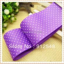 MNYD6,10 yards classic white dots printed grosgrain ribbon,38MM DIY accessories ribbon bow making,clothing accessories(China)