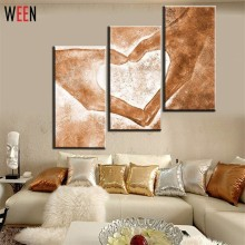Hand Painted 5pcs Modern Abstract Oil Paintings Love Heart Drawing by Hands Canvas Art Living Room Wall Pictures Decor