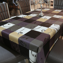 PVC European Style Printed Table Cloth Waterproof Non Wash Polyester Fiber Tablecloth Non Wash Plastic Pad(China)