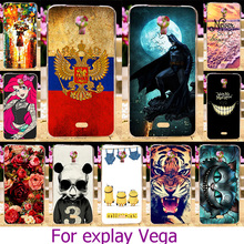 Soft TPU Hard Plastic Phone Case For Explay Vega 4.7 inch Painted Case tiger Cat Cover housing Smartphone Protective Skin Bag
