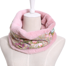 2017 fashion brand russian retro print women thick winter wool scarf ring O- Neck comfortable warm Cashmere Shawl