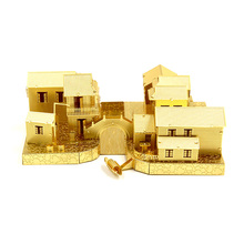 2017 3D Metal Nano Puzzle Ancient Water Town Building Model Kits J037 DIY 3D Laser Cut Jigsaw Toys For Audit(China)