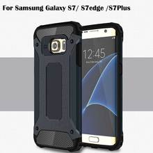 Ultra Thin For Samsung Galaxy S7 S7edge S7Plus Case TPU PC Material 2 in 1 Combo Military Phone Cases Armor Shockproof Hard Case