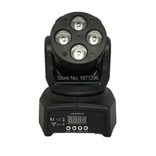 Cool LED Moving Head Mini wash 4x10w RGBW Quad DMX Stage Light 0-100% Dimmer free shipping(China)