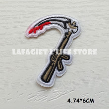 3pcs Customized GUN Logo Patches for Clothing Jacket Bag Motorcycle HAT Appliques Garment Iron Sew on patches Vest sticker(China)