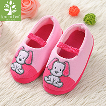 Kids Slippers Children Home Shoes Baby Shoes Boys Girls Indoor Bedroom Warm Winter Cotton Slipper Animal Cartoon Dog Pattern