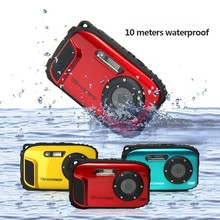 Hot 2.7inch LCD Anti-shake Cameras 16MP Digital Camera Underwater 10m Waterproof Camera+ 8X Zoom Video Camcorde Free Shipping(China)