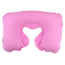 U in the form of a neck pillow car head rest neck inflatable travel pillow cushion of air travel pillows, home office pink @004(China)