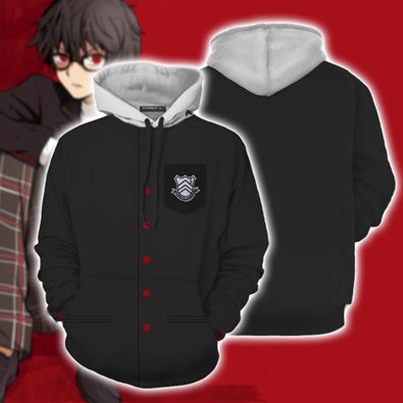 Persona 5 3D Hoodie P5 Hero Arsene Joker Cosplay Anime Sweatshirt Jacket Coat