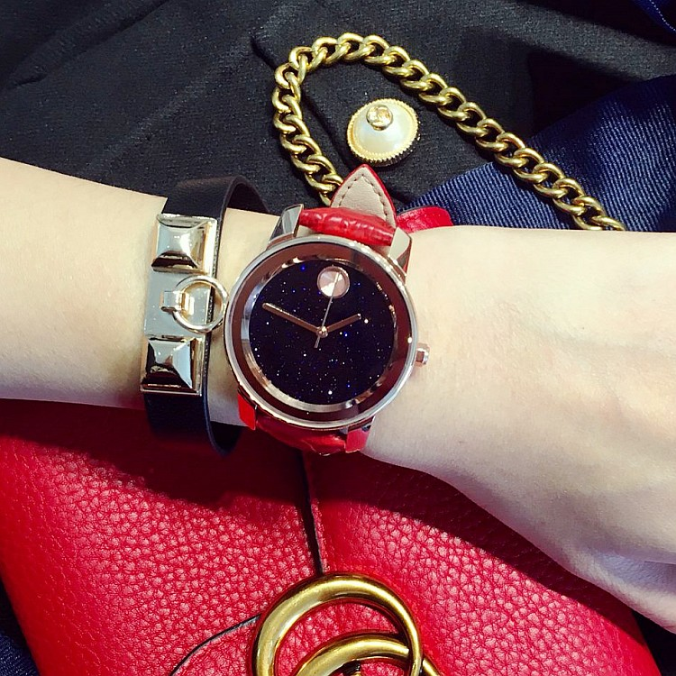 New Arrival Watches 2017 Fashion Design Women Watch Luxury Lady Wristwatches Real Leather Dress Watch Women Rhinestone Watches <br>