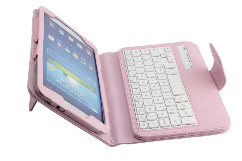 Removable Wireless Bluetooth Russian/Hebrew/Spanish Keyboard Stand PU Leather Case For Samsung Galaxy Tab 3 8.0 T310 T311 T315<br>