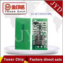 High quality color laser printer chip for 821026 821029 821028 821027 cartridges compatible for Ric SP C820 821DN Toner chip