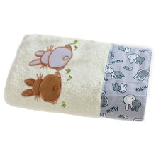 Comfortable Antibacterial Cartoon Cotton Bath Towel Children Cute Rabbit Print Beach Towels For Baby Smothness