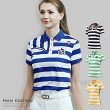 NEW Golf Clothing Ladies T-shirts Golf Short Sleeved Women's Polo Shirt Summer Golf Apparel Breathable(China)