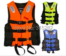 2016 Hot sell Professional Life Vest Life jackets Water Sport Survival Suit Outdoor Swimwear fishing with Whistle(China)