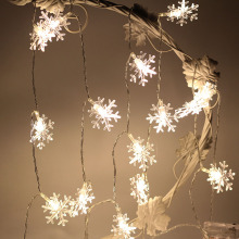 Battery Powered Snowflake 20 LED String Fairy Lights Lanterns Xmas Party Decor