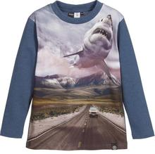 2017 MOLO Fashion Children's T-shirts kids 3D print T shirt of animals&ferocious shark Clothing baby boy Cotton Long Sleeve Tops