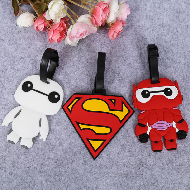 2018 New Fashion Silicon Luggage Tags Travel Accessories For Bags Portable Travel Label Suitcase Cartoon Style For Girls Boys (19)
