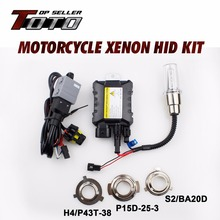 Car-Styling H3 HID Kit Moto 6000K Headlight Motorcycle Xenon Lights Ballast For DUCATI 748 916 996 998 ST2 ST4 1995-2009