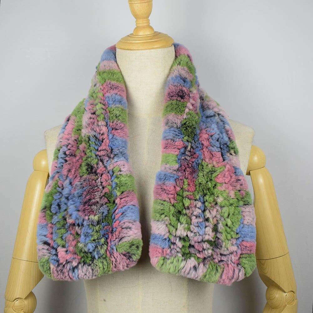 rex rabbit fur scarf short 16
