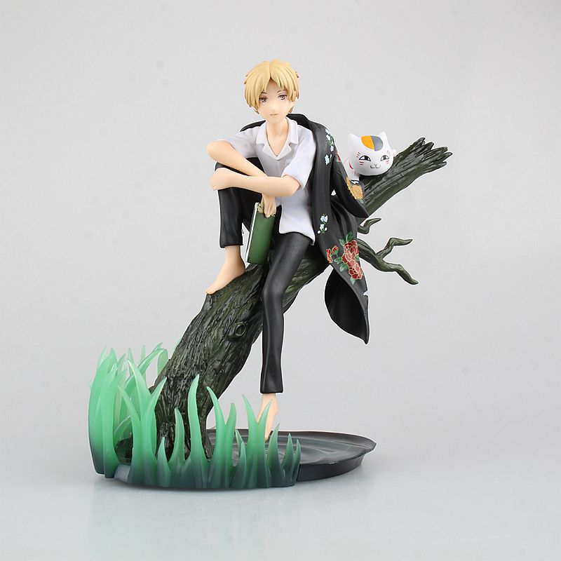 Huong Anime Figure 18 CM Natsume Yuujinchou with Nyanko Sensei PVC Action Figure Model Collectibles Toys <br>