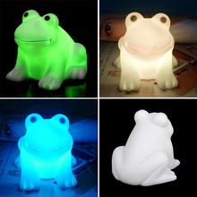 Abajur Color Changing Animal Frog Shaped LED Night White Light Lamp Battery Operated Lumiparty Luminaria Table Lamp