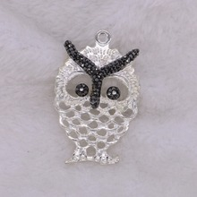 5 pcs owl pendant with natural pearl wholesale handcrafted jewelry finding Gems jewelry bead 2167(China)