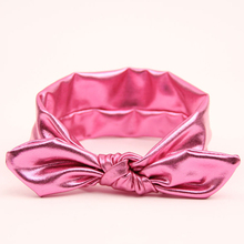 1 PC Kawaii Cute Lovely Girls Stretch Ear Turban Bowknot Hairband Headband Hair Band Accessories Rabbit Ear Head Wrap Gold
