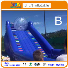 inflatable zorb ball slide for sale / high quality inflatable slide come with zorb ball / inflatable game