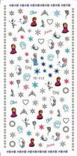 1X WATER DECAL NAIL STICKER CARTOON WINTER SNOW ANNA ELSA  HELLO KITTY  YE112-117