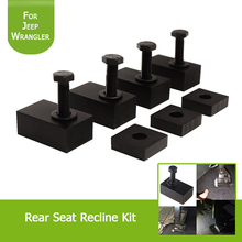 1Set Interior Accessories Rear Seat Recline Kit with Bolts and Washers Black Aluminum for Jeep Wrangler JK 2007-2017 4 Door