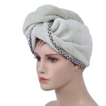Women Bathing Cap Quick Dry Twist Towel Hair-drying Wrapped Shower Cap Sauna Hat Spa Bath Swimming Wrap(China)