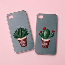 For Ulefone Gemini Power Metal Solf TPU Silicone Stereo Cactus Case Mobile Phone Cover Bag Cellphone Housing Shell Skin Funda(China)